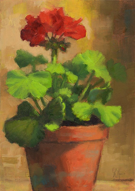 """First Bloom"" original fine art by Linda Jacobus"