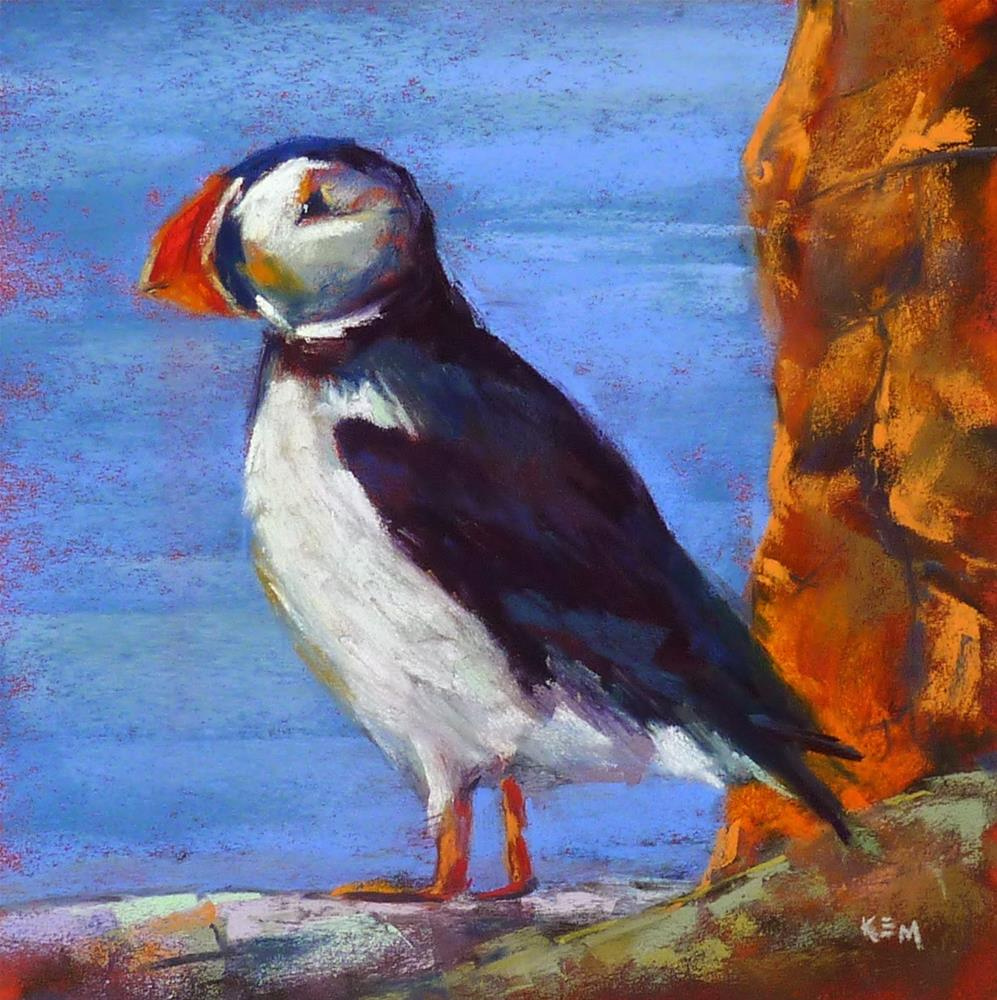 """""""Iceland: Through the Eye's of an Artist  part 6 Puffins and Viking Sushi"""" original fine art by Karen Margulis"""