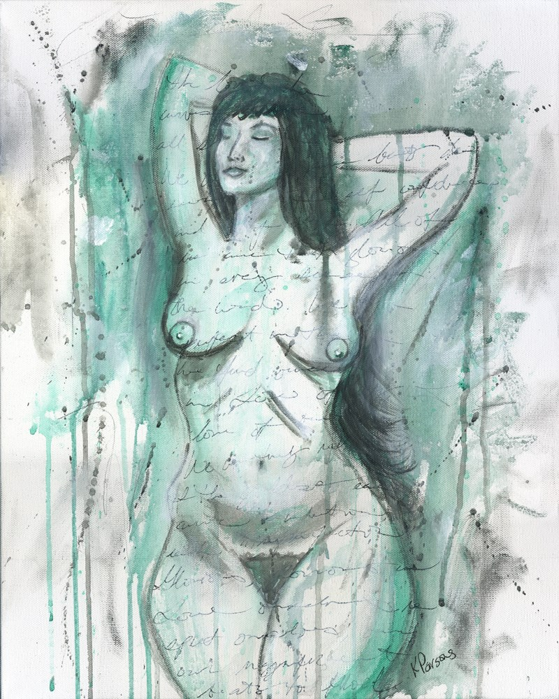 """She Owned her Curves"" original fine art by Kali Parsons"