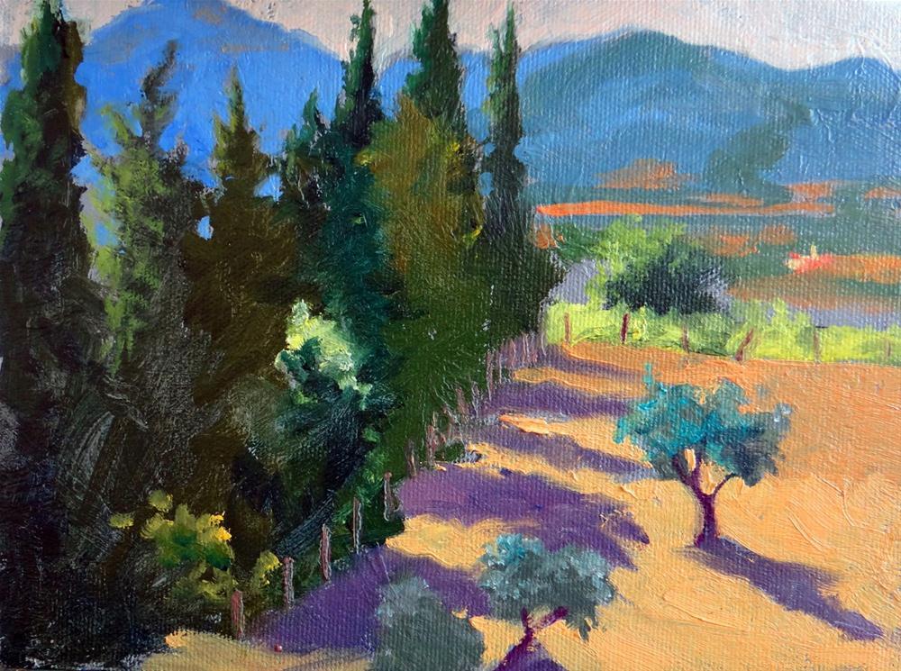 """Morning Shadows"" original fine art by Nancy Paris Pruden"
