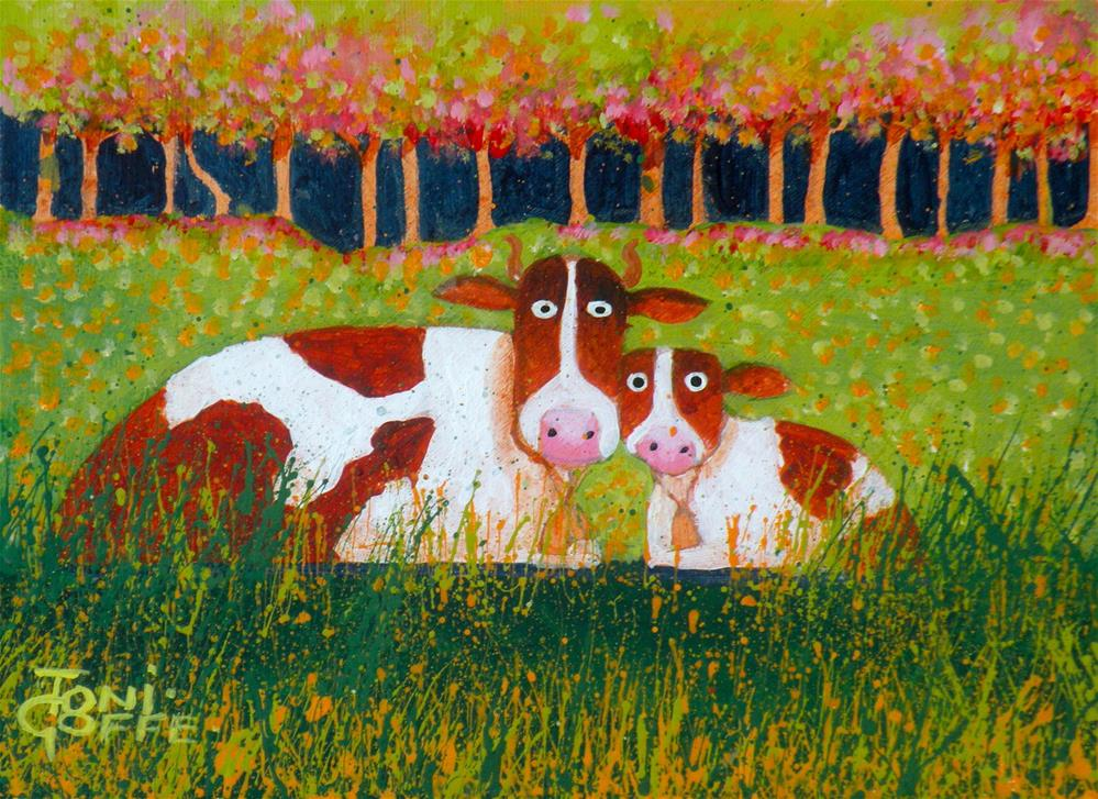 """Mum and Me"" original fine art by Toni Goffe"