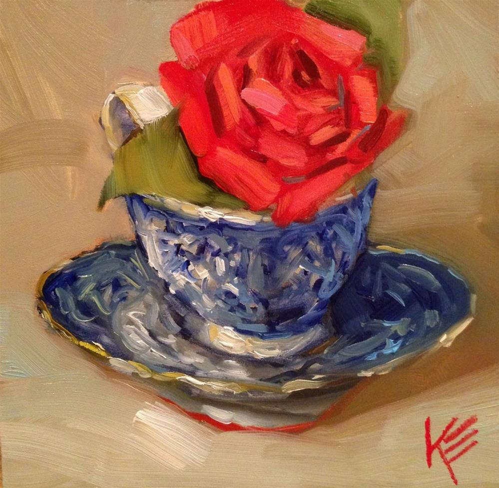 """Winter Tea"" original fine art by Krista Eaton"