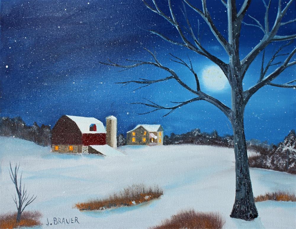 """Evening Chores"" original fine art by Jack Brauer"