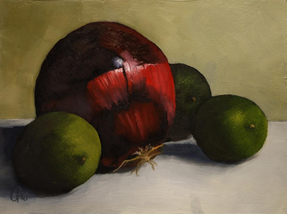 """Red Onion and Limes"" original fine art by Gary Westlake"