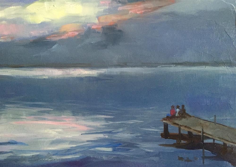 """The Pier"" original fine art by Gary Bruton"