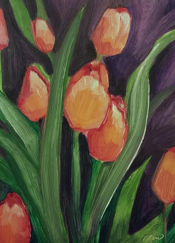 """Tulips 2"" original fine art by Leni Tarleton"