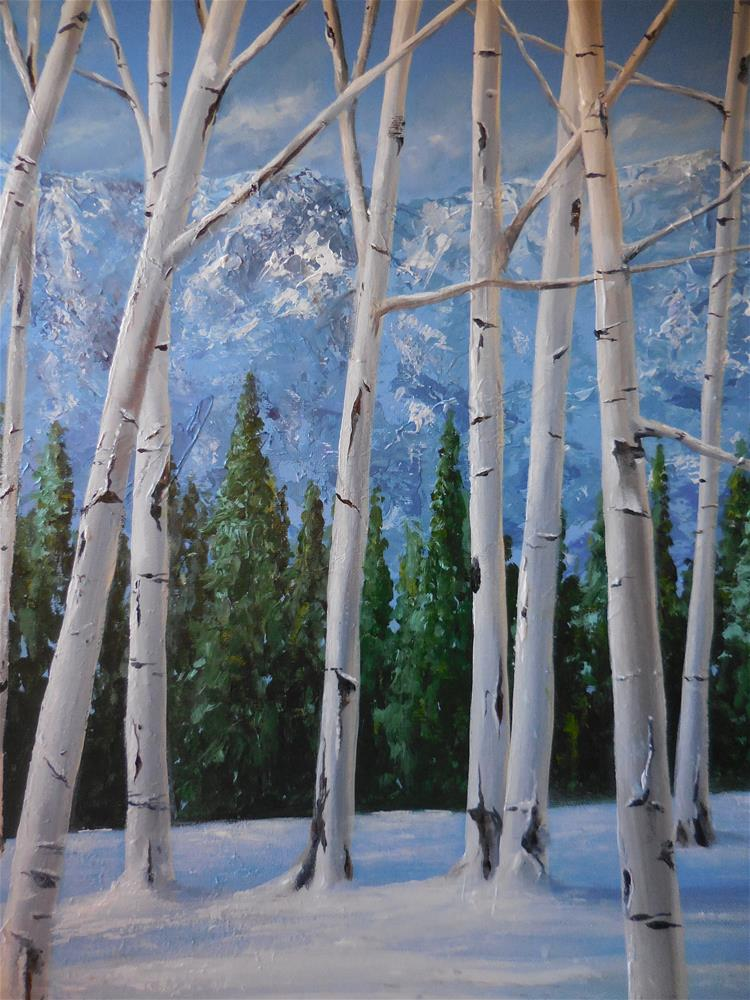 """Colorado Aspens"" original fine art by Terri Nicholson"