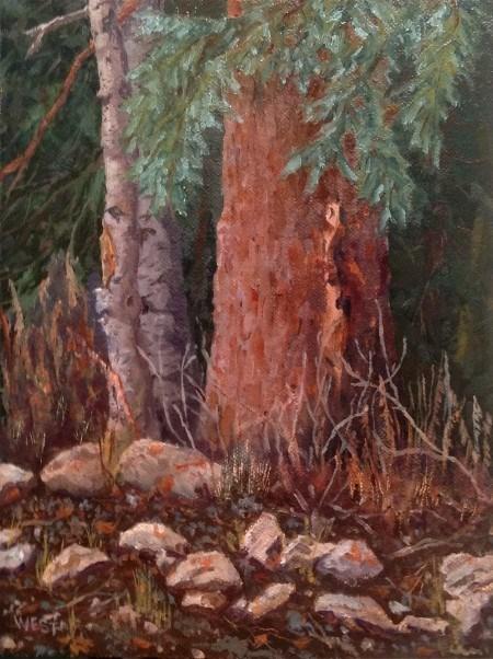 """""""A Quiet Place to Rest"""" original fine art by James West"""
