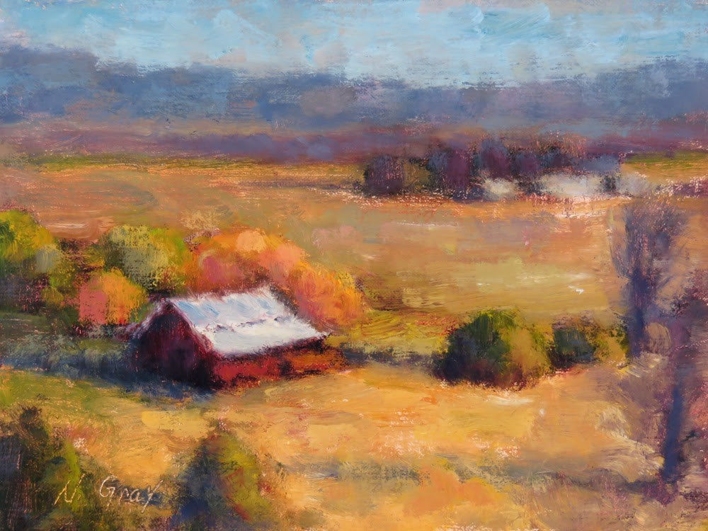 """Homestead in October"" original fine art by Naomi Gray"