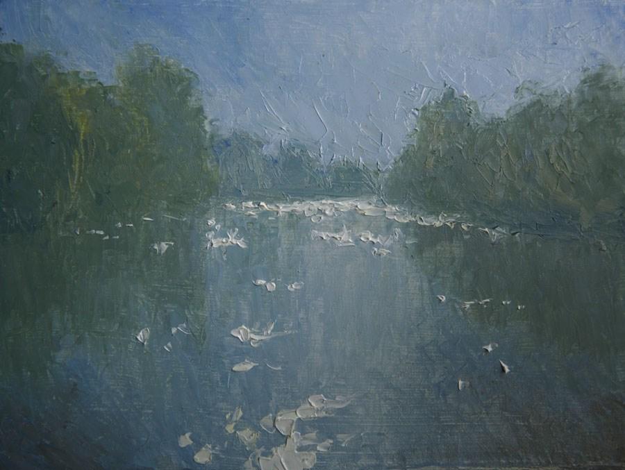 """Hazy River"" original fine art by Jethro Knight"