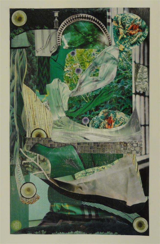 """Color Study:  The Green Issue"" original fine art by Cynthia Frigon"