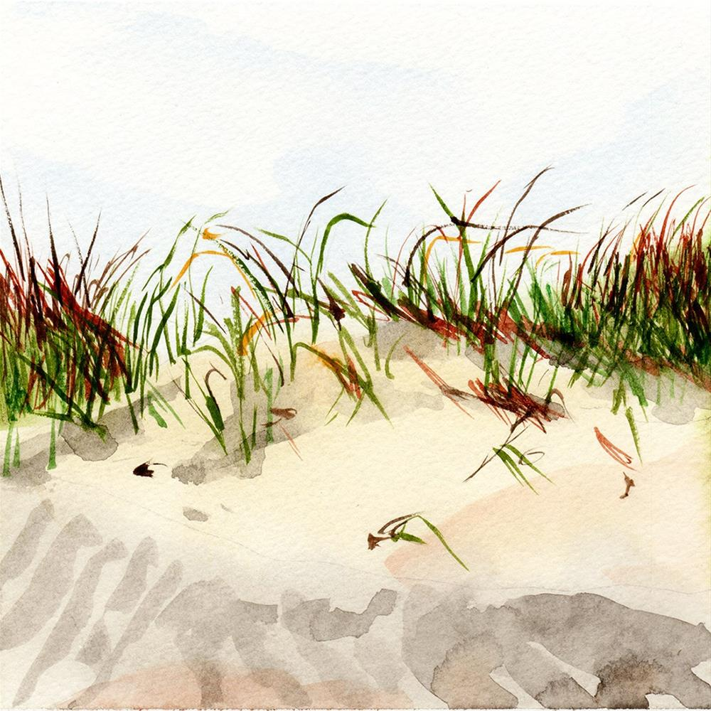 """""""Dunes in Spring"""" original fine art by Linda Lowery"""