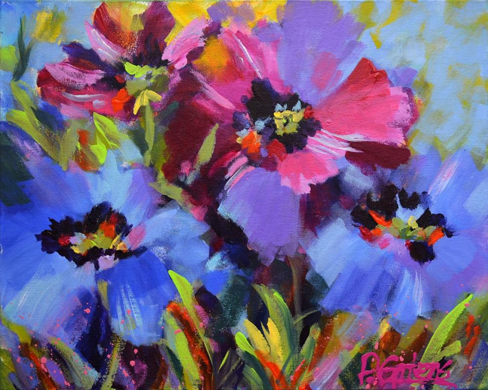 """Blue Poppy Garden"" original fine art by Pamela Gatens"