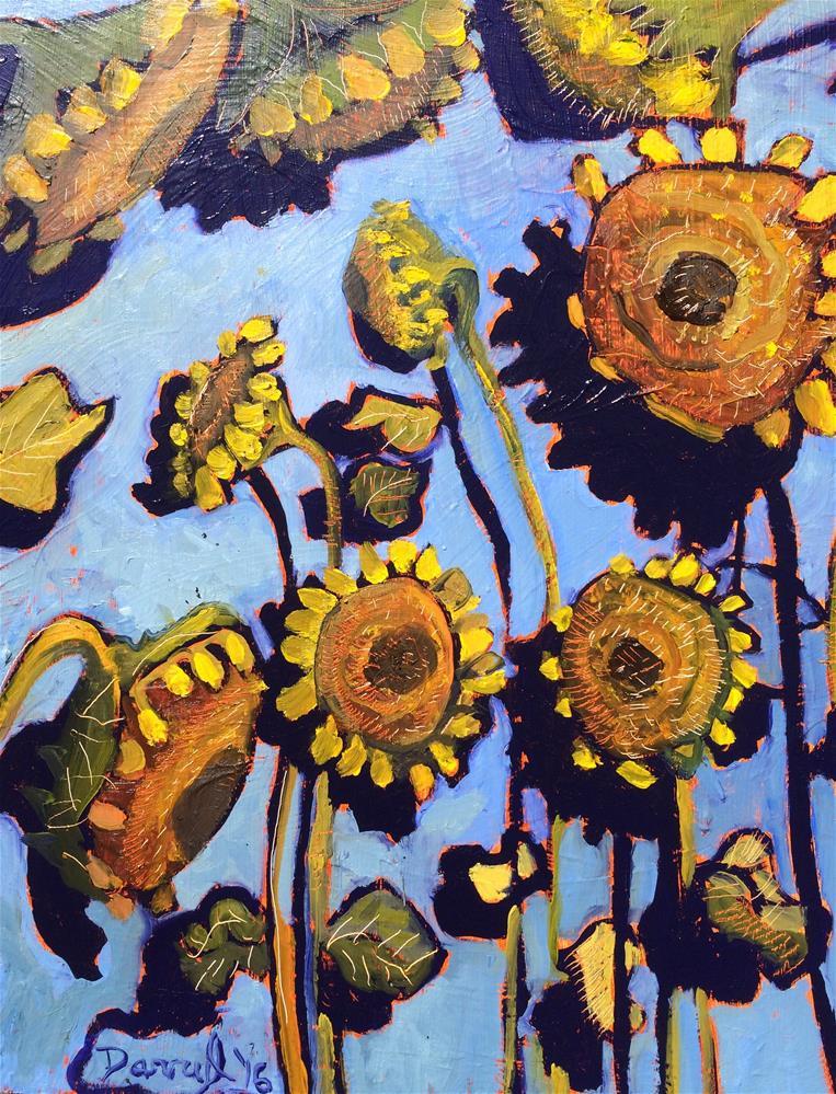 """Sunflowers"" original fine art by Darryl Freeman"