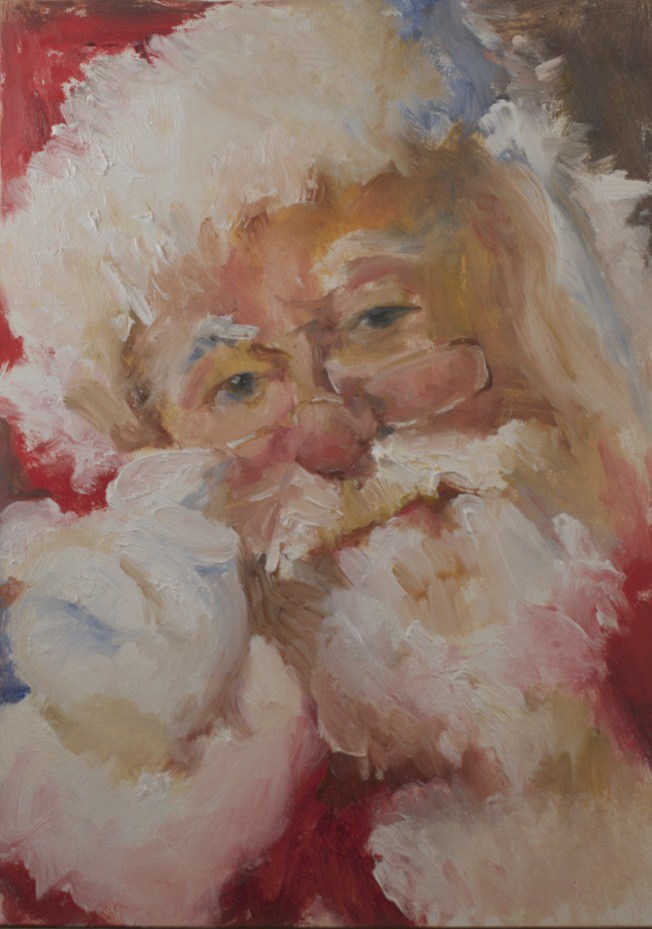 """Santa #1 (2014)"" original fine art by Sue Churchgrant"