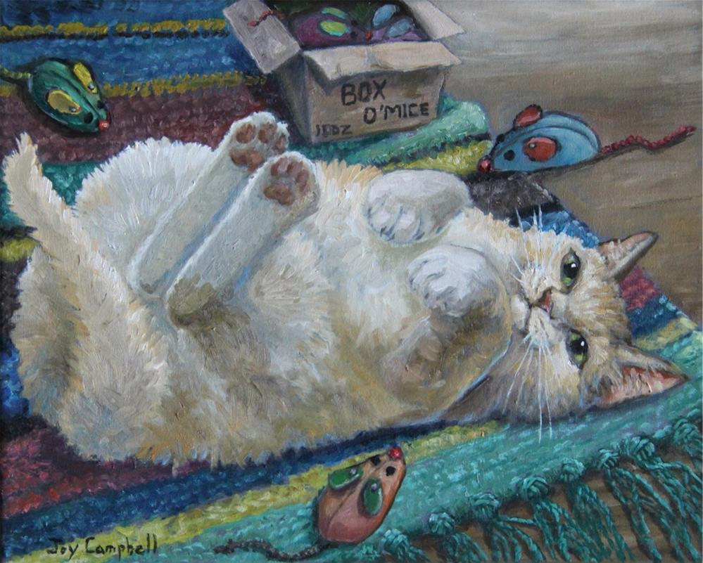 """Box O' Mice"" original fine art by Joy Campbell"