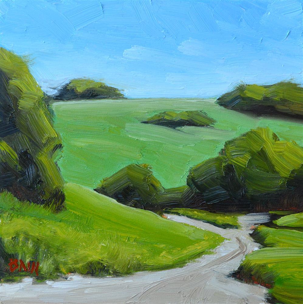 """Lower Pasture"" original fine art by Peter Bain"