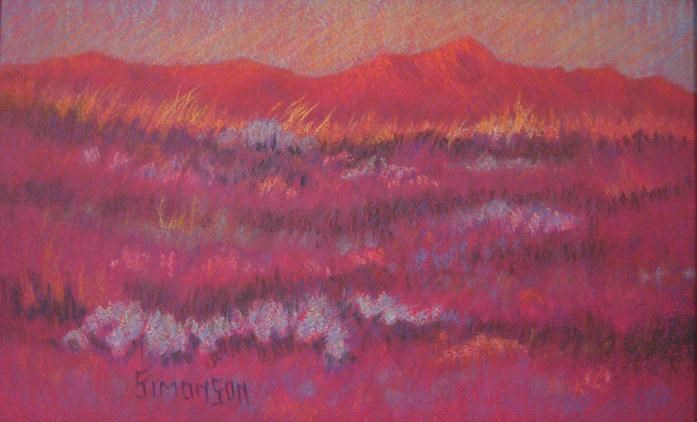 """Field of Flowers II"" original fine art by Bev Simonson"