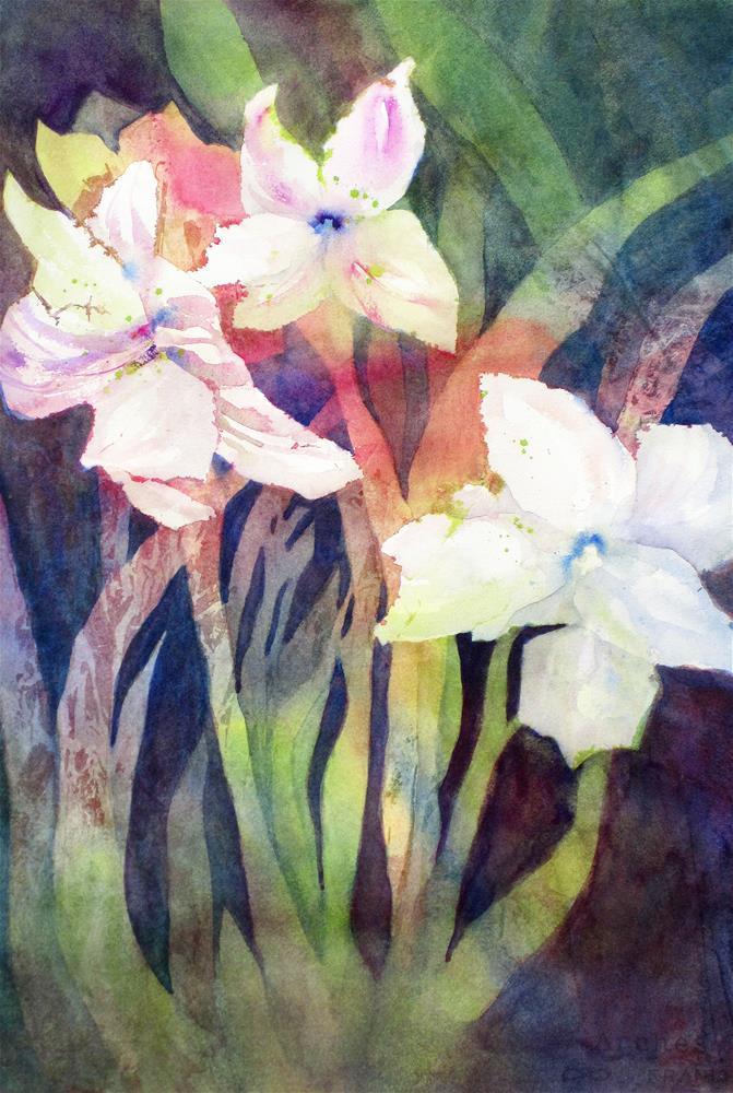 """""""Amaryllis"""" original fine art by Julie Crouch"""