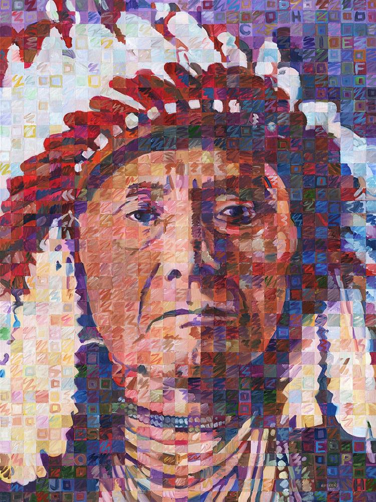 """Great Native American Chiefs – Chief Joseph"" original fine art by Randal Huiskens"