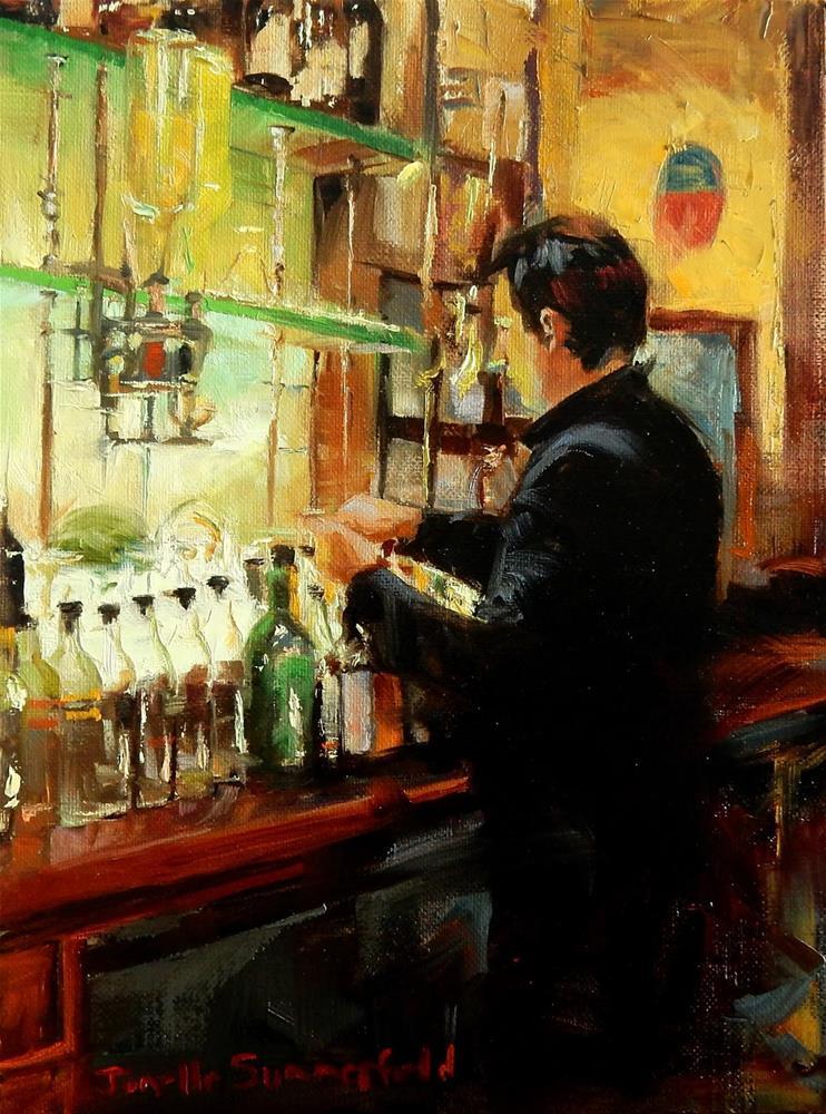 """""""The Mixologist"""" original fine art by Jonelle Summerfield"""