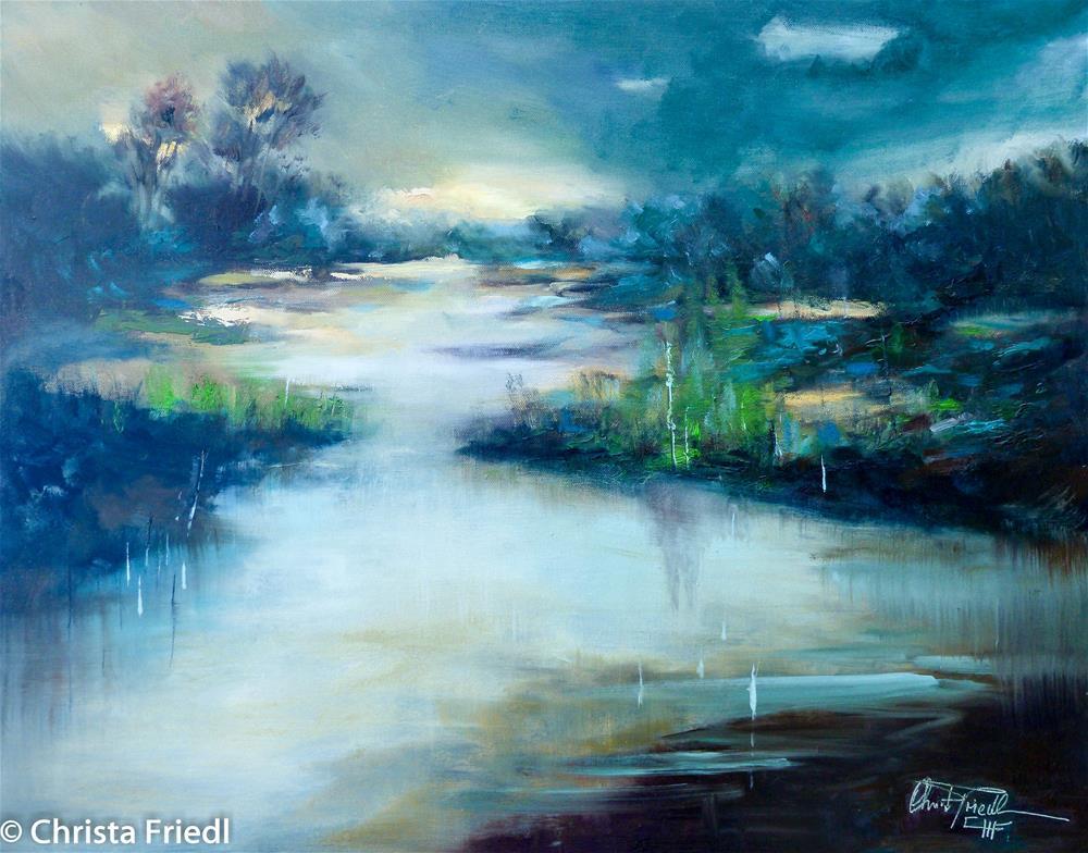 """Sunset Everglades"" original fine art by Christa Friedl"