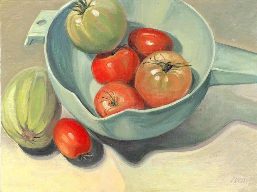 """Garden Produce"" original fine art by Kath Reilly"