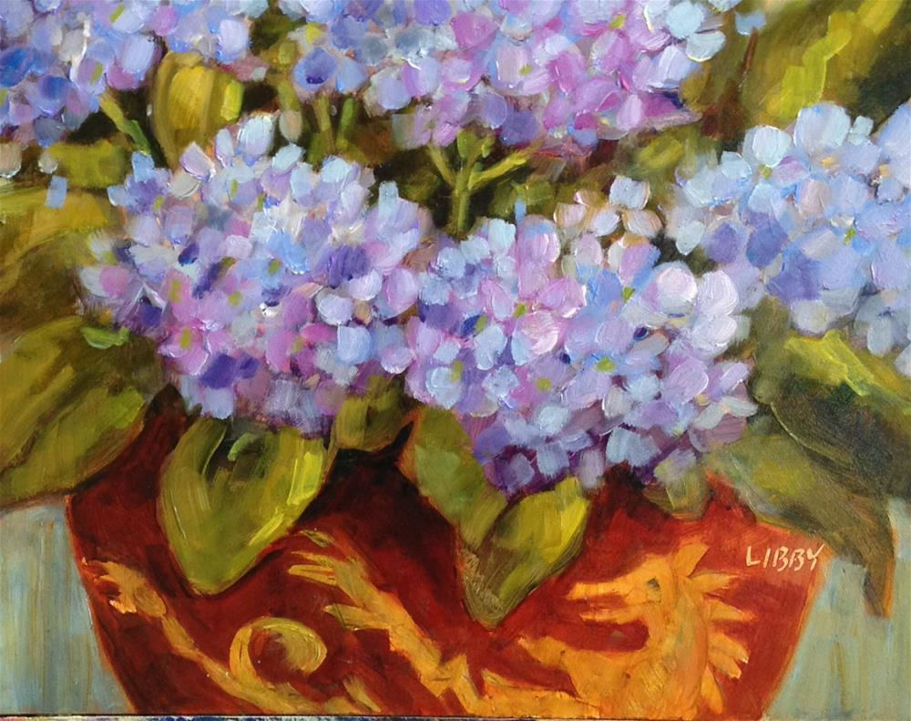 """Longwood Pot"" original fine art by Libby Anderson"