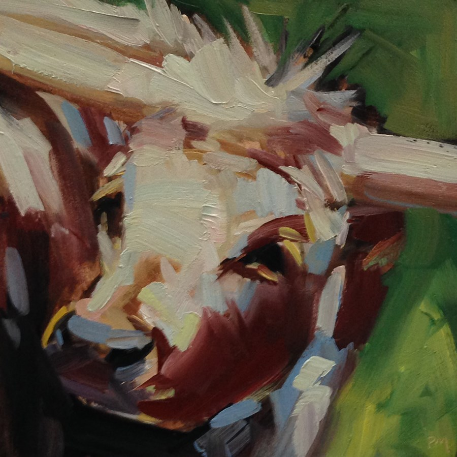 """Lucy the Littlest Longhorn"" original fine art by Patti McNutt"
