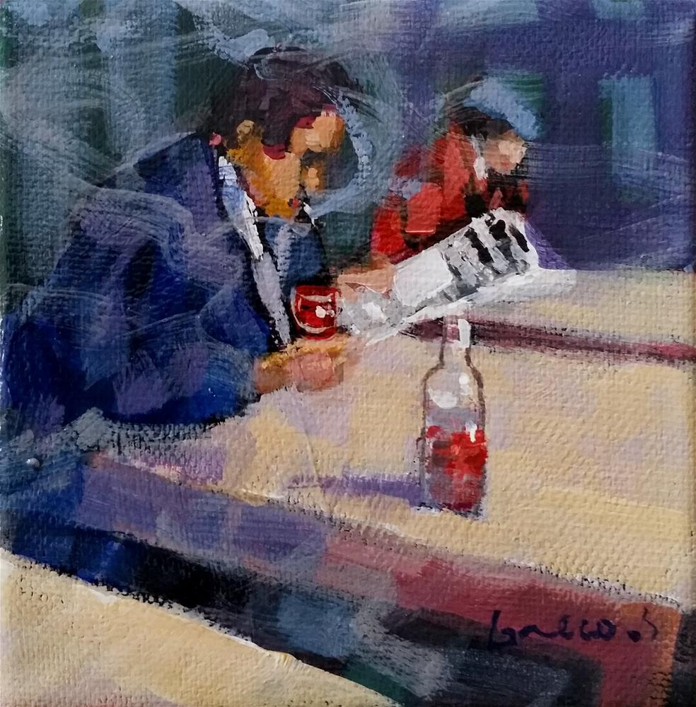 """""""Paris café"""" original fine art by salvatore greco"""