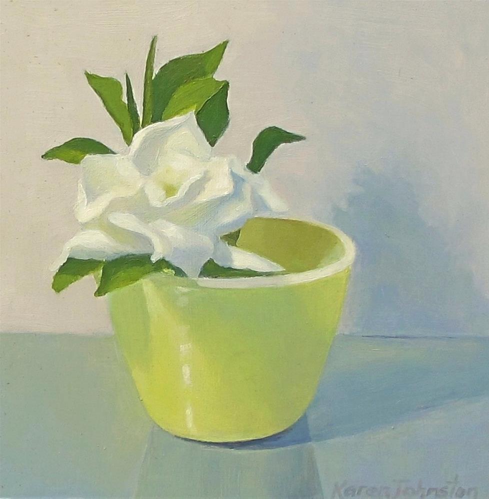 """Gardenia"" original fine art by Karen Johnston"