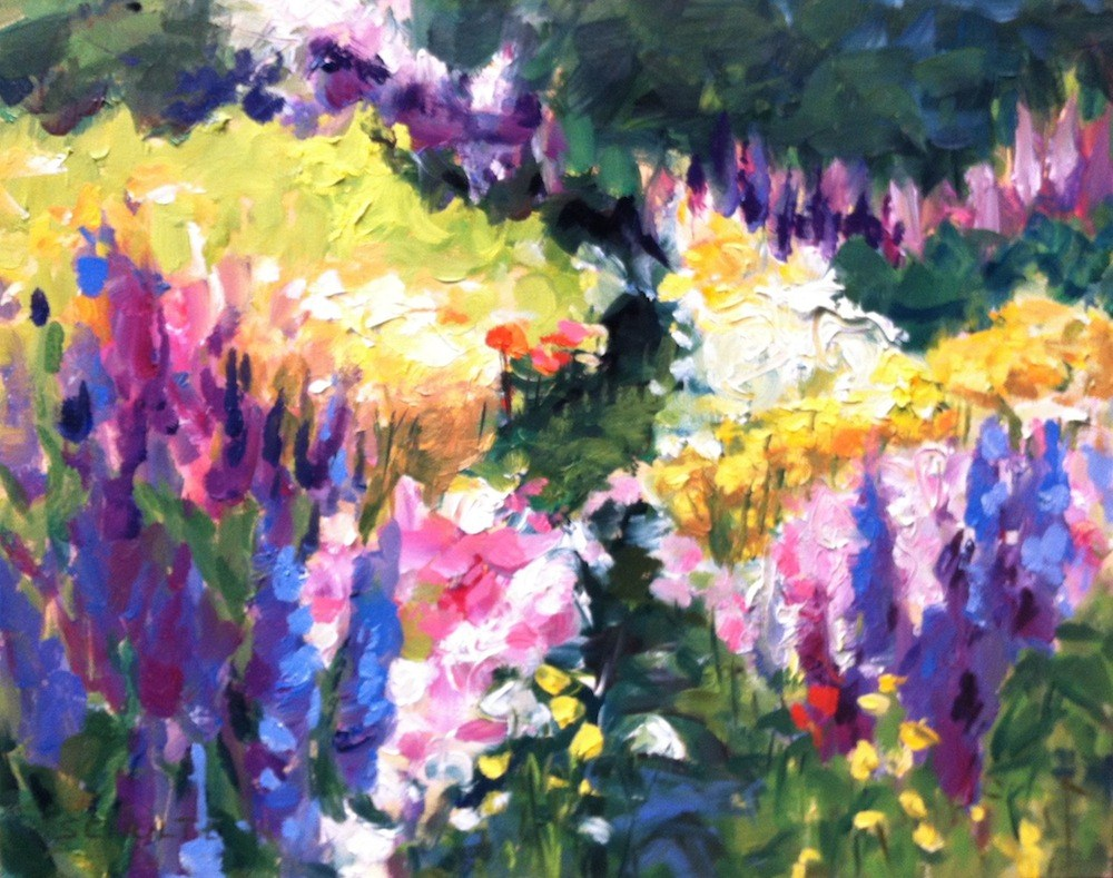 """Stonington Wildflowers"" original fine art by Lynne Schulte"