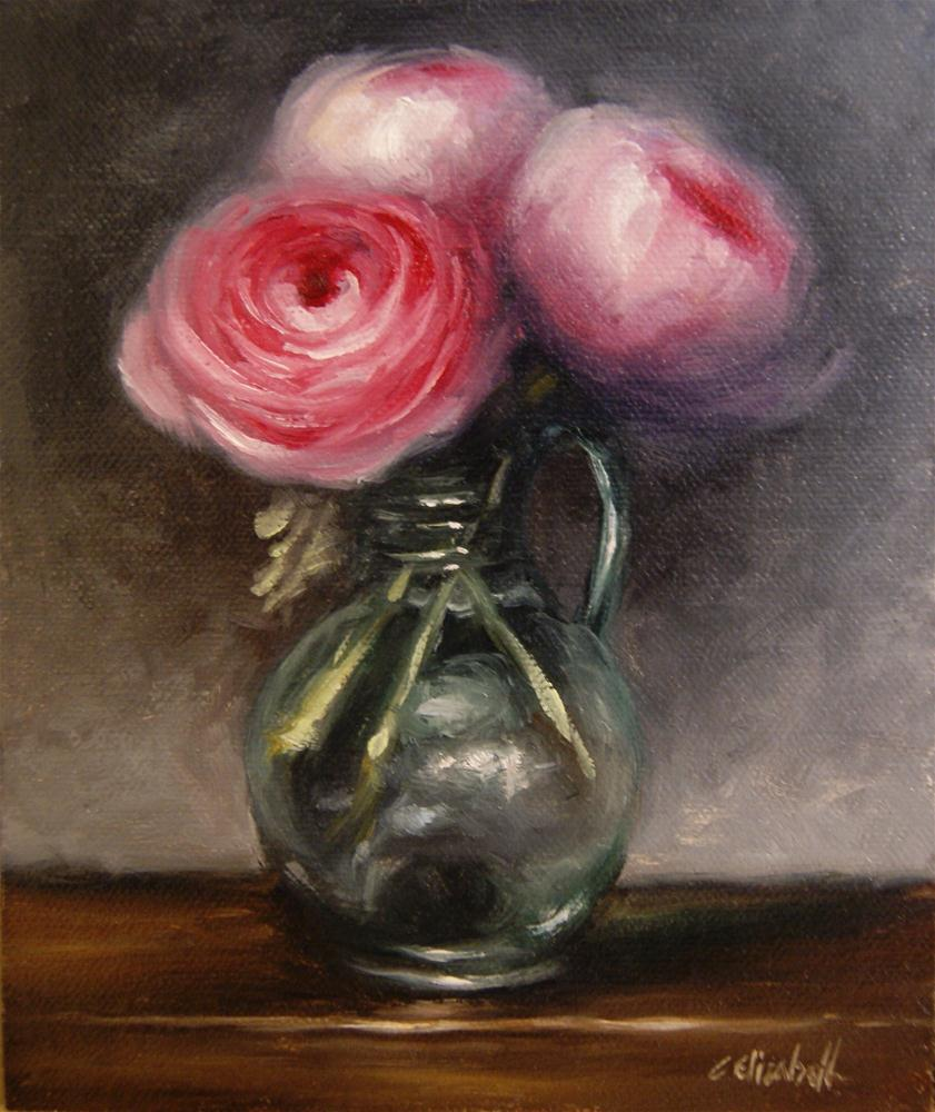 """Pink Ranunculus Still Life"" original fine art by Carolina Elizabeth"