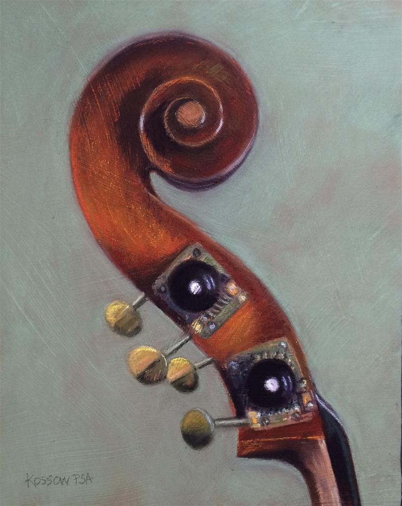 """Liandro DiVacenza Ceruti Bass"" original fine art by Cristine Kossow"