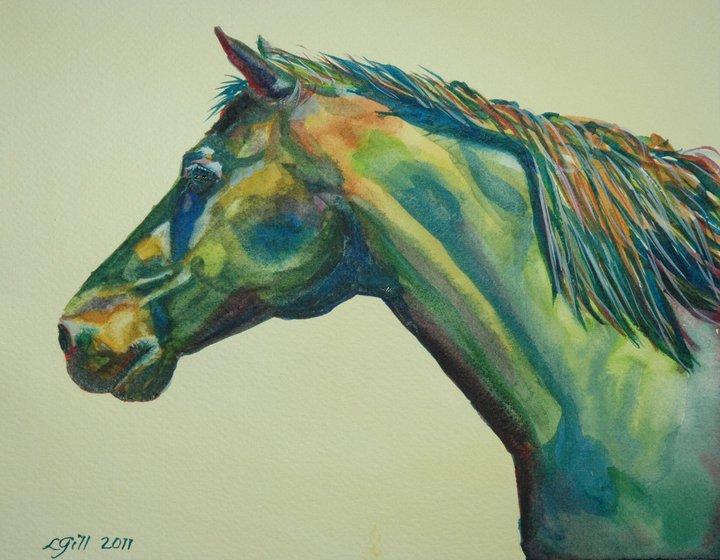 """Paint Pony 8 - Kermit"" original fine art by Lyn Gill"