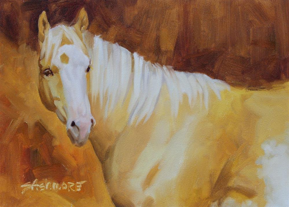 """Palomino Glow"" original fine art by Susan Ashmore"
