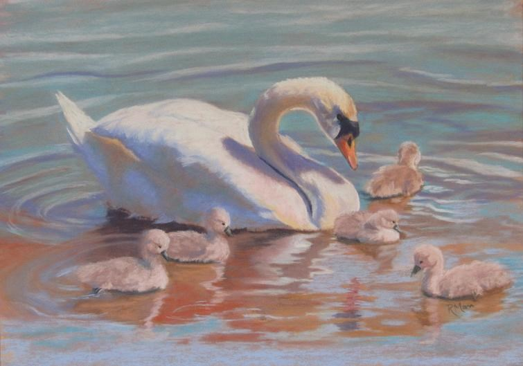 """Family Outing"" original fine art by Ruth Mann"
