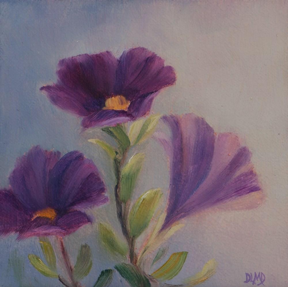 """Purple Trails"" original fine art by Debbie Lamey-Macdonald"
