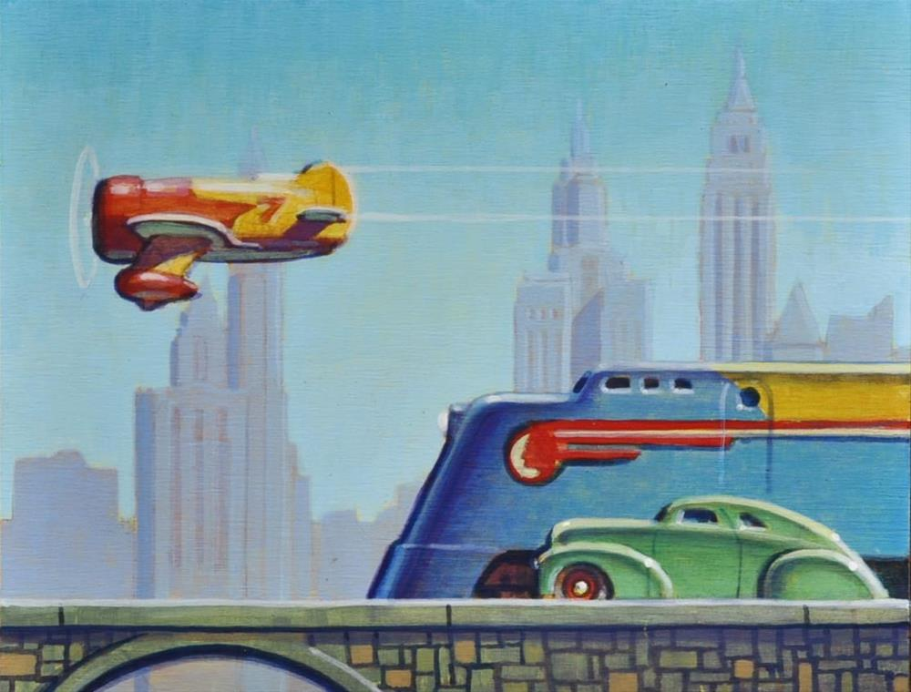 """Planes, Trains, and Automobiles"" original fine art by Robert LaDuke"