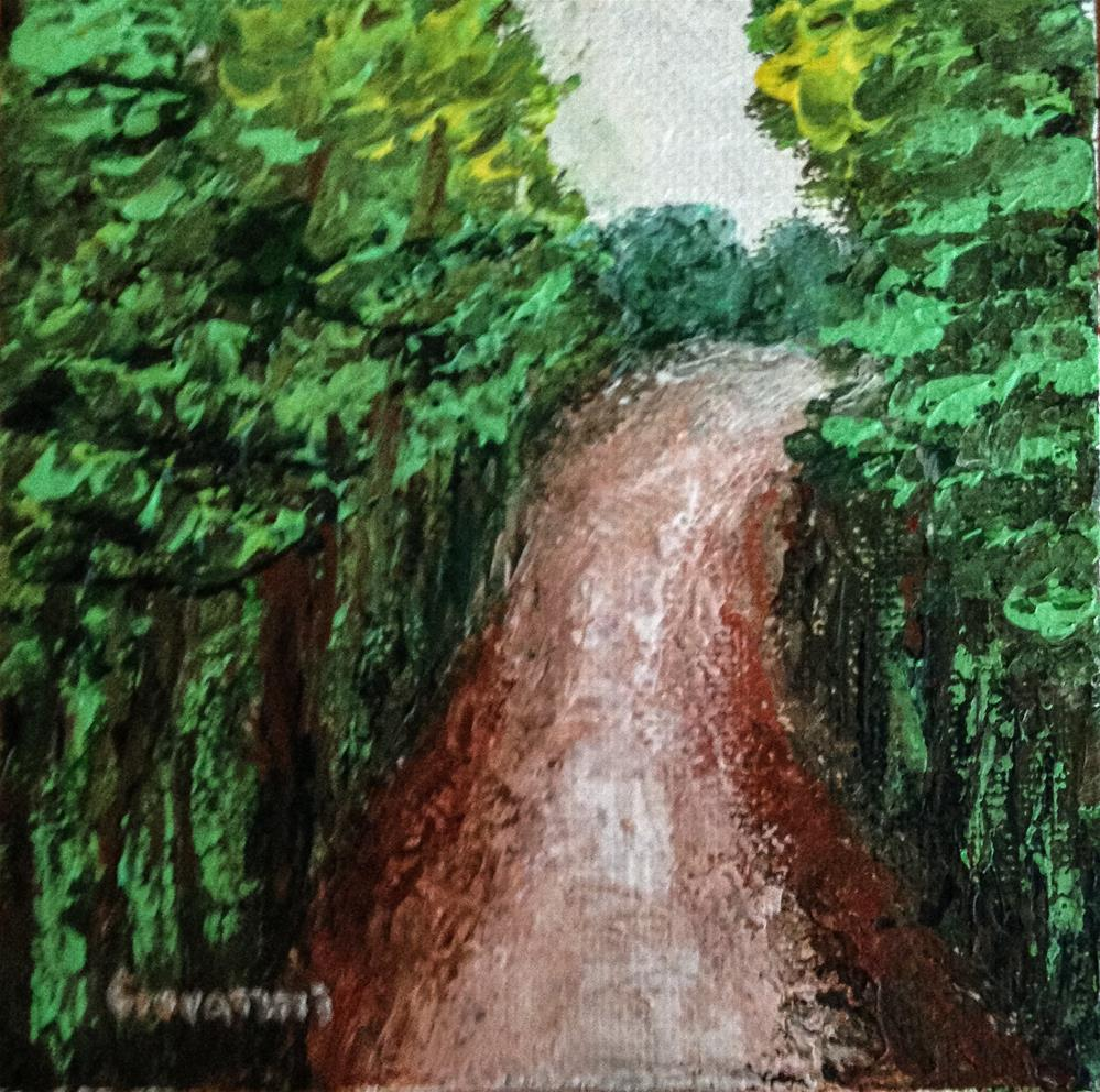 """Road with trees"" original fine art by Giovanni Antunez"