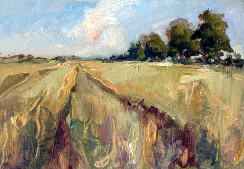 """Wheat and Wheelings"" original fine art by Anne Wood"