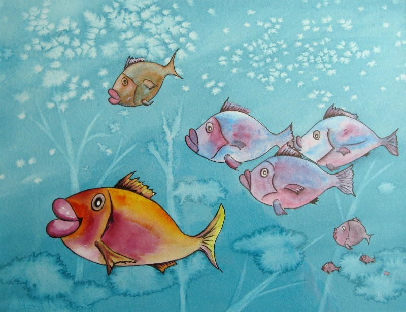 """Fish For Kids"" original fine art by Horst Berlow"
