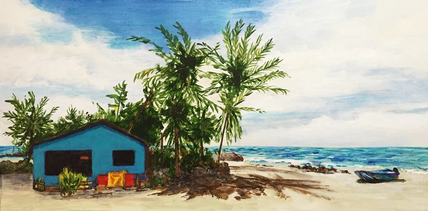 """On the Beach"" original fine art by Nan Johnson"