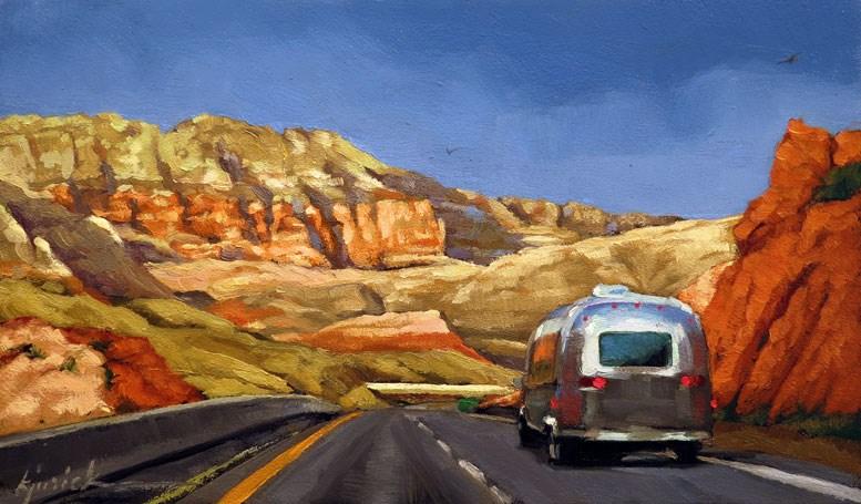 """Canyon Cruise"" original fine art by Karin Jurick"