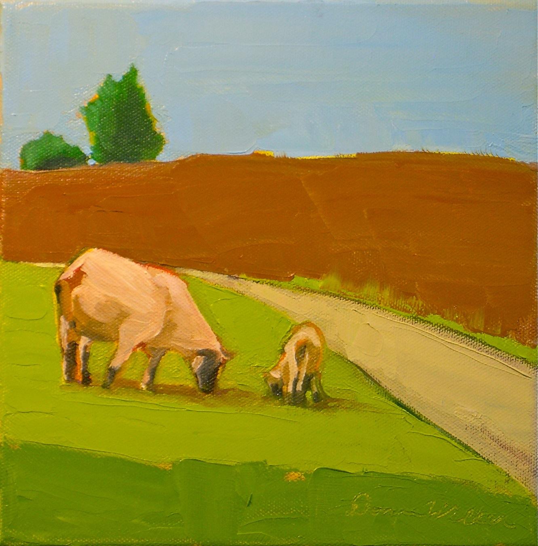 """Sheep May Safely Graze"" original fine art by Donna Walker"