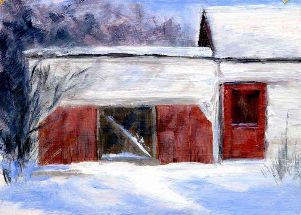 """Horse Shed"" original fine art by Eileen Hennemann"