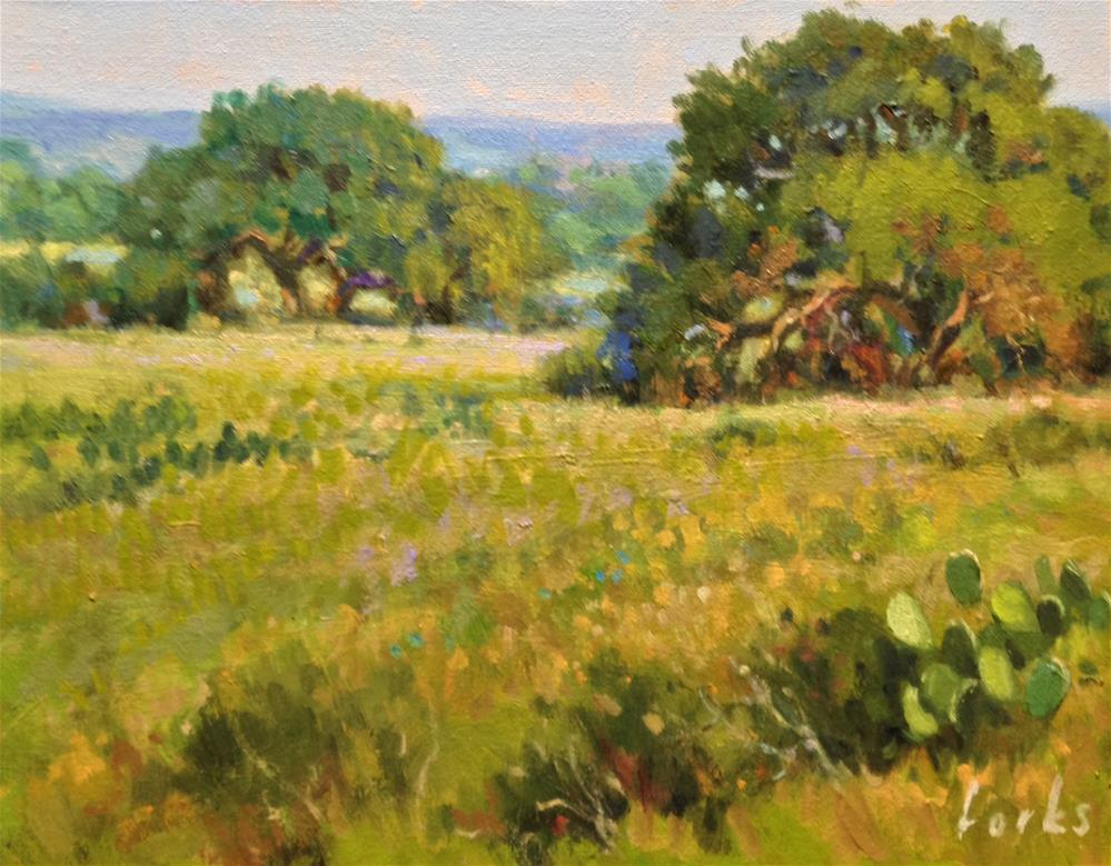 """Oaks on 311"" original fine art by David Forks"