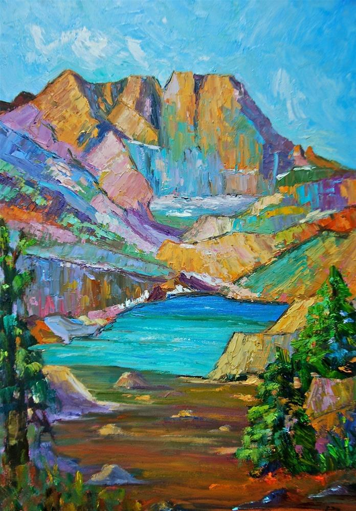 """Long's Peak Majesty"" original fine art by Liz Zornes"