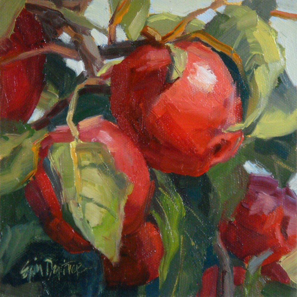 """How About Them Apples?"" original fine art by Erin Dertner"