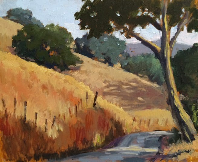 """A Country Road"" original fine art by Deborah Newman"